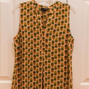 The Limited Sleeveless Pineapple Blouse